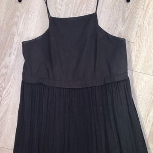 Free People Dresses - Free People S black crinkle gauze maxi dress boho